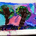 """26.02.2018 / """"Деревья"""" в Творческой студии. Автор работы: Боковая Дарья (5 лет)"""