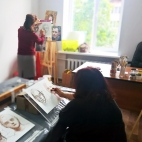 """08.07.2017 / Мастер-класс """"Портрет"""" в Творческой студии"""