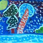 """23.09.2017 / Мастер-класс """"Зимняя ночь (гуашь)"""" в Творческой студии. Автор работы: Токаюк Дорин (9 лет)"""