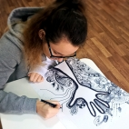 """01.10.2017 / Мастер-класс """"Дудлинг в цвете"""" в Творческой студии"""