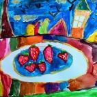 """01.10.2017 / """"Клубника"""" в Творческой студии. Автор работы: Чернова Алиса (5 лет)"""