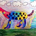 """07.10.2017 / """"Веселая собака"""" в Творческой студии. Автор работы: Мулгачёва Инна (7 лет)"""
