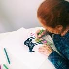 """08.10.2017 / Мастер-класс """"Дудлинг в цвете"""" в Творческой студии"""