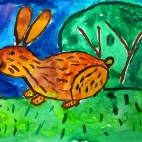 """24.10.2017 / """"Кролик"""" в Творческой студии. Автор работы: Ижболдина Мария (7 лет)"""