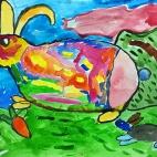"""25.10.2017 / """"Кролик"""" в Творческой студии. Автор работы: Мулгачёва Инна (7 лет)"""