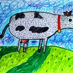 """29.10.2017 / """"Коровка"""" в Творческой студии. Автор работы: Комиссарова Екатерина (7 лет)"""