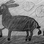 """04.11.2017 / """"Ослик"""" в Творческой студии. Автор работы: Клемин Лев (8 лет)"""