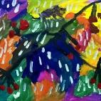 """13.11.2017 / """"Ягодки на ветке"""" в Творческой студии. Автор работы: Король Анна (5 лет)"""