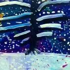 """20.11.2017 / """"Зимняя ночь"""" в Творческой студии. Автор работы: (5 лет)"""