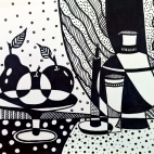 """14.11.2017 / """"Графический натюрморт"""" в Творческой студии. Автор работы: Кузьмина Марина Акоповна"""