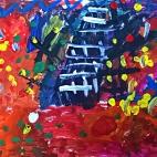 """28.11.2017 / """"Осеннее дерево"""" в Творческой студии. Автор работы: Ушакова Алиса (5 лет)"""