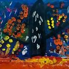 """28.11.2017 / """"Осеннее дерево"""" в Творческой студии. Автор работы: Боковая Дарья (5 лет)"""