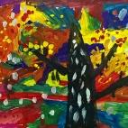 """28.11.2017 / """"Осеннее дерево"""" в Творческой студии. Автор работы: Король Анна (5 лет)"""