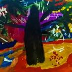 """28.11.2017 / """"Осеннее дерево"""" в Творческой студии. Автор работы: Васильева Анна (4,5 лет)"""