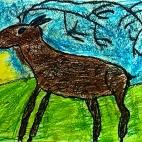 """09.12.2017 / """"Олень"""" в Творческой студии. Автор работы: Токаюк Дорин (9 лет)"""