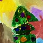 """12.12.2017 / """"Новый год"""" в Творческой студии. Автор работы: Васильева Анна (4,5 лет)"""