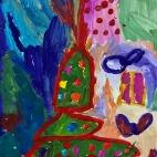 """12.12.2017 / """"Новый год"""" в Творческой студии. Автор работы: Король Анна (5 лет)"""