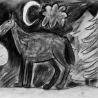 """15.12.2017 / """"Волк"""" в Творческой студии. Автор работы: Мулгачёва Инна (7 лет)"""