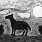 """17.12.2017 / """"Волк"""" в Творческой студии. Автор работы: Кузнецова Алёна (11 лет)"""