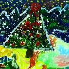 """23.12.2017 / """"В лесу родилась елочка"""" в Творческой студии. Автор работы: Клемин Лев (8 лет)"""