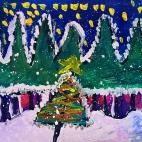 """23.12.2017 / """"В лесу родилась елочка"""" в Творческой студии. Автор работы: Токаюк Дорин (9 лет)"""