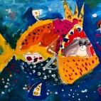 """15.01.2018 / """"Золотая рыбка"""" в Творческой студии. Автор работы: Ушакова Алиса (5 лет)"""