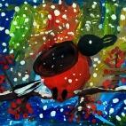 """12.02.2018 / """"Снегирь"""" в Творческой студии. Автор работы: Боковая Дарья (5 лет)"""