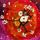 """05.03.2018 / """"Сакура"""" в Творческой студии.  Автор работы: Рыкова Маргарита (5 лет)"""