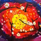 """05.03.2018 / """"Сакура"""" в Творческой студии.  Автор работы: Боковая Дарья (5 лет)"""
