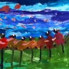 """15.05.2018 / """"Птички-невелички"""" в Творческой студии. Автор работы: Кравченко Юля (5 лет)"""