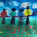 """15.05.2018 / """"Птички-невелички"""" в Творческой студии. Автор работы: Аксёнова Амелина (4 года)"""