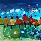 """15.05.2018 / """"Птички-невелички"""" в Творческой студии. Автор работы: Боковая Дарья (5 лет)"""