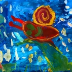 """21.05.2018 / """"Улитка"""" в Творческой студии. Автор работы: Кравченко Юля (5 лет)"""