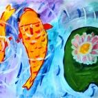 """23.05.2018 / """"Карпы"""" в Творческой студии. Автор работы: Ижболдина Мария (7 лет)"""
