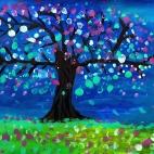 """26.09.2018 / """"Цветущее дерево"""" в Творческой студии. Автор работы: Ижболдина Мария (8 лет)"""