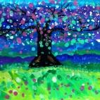 """26.09.2018 / """"Цветущее дерево"""" в Творческой студии. Автор работы: Мулгачёва Инна (8 лет)"""