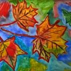 """10.10.2018 / """"Осенние листья"""" в Творческой студии. Автор работы: Ижболдина Мария (8 лет)"""
