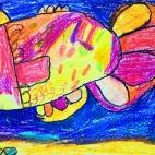 """17.12.2018 / """"Золотая рыбка"""" в Творческой студии. Автор работы: Ушакова Алиса (5 лет)"""