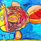 """17.12.2018 / """"Золотая рыбка"""" в Творческой студии. Автор работы: Кравченко Юля (5 лет)"""