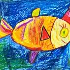 """17.12.2018 / """"Золотая рыбка"""" в Творческой студии. Автор работы: Аксёнова Амелина (5 лет)"""