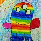 """24.12.2018 / """"Добрый монстр"""" в Творческой студии. Автор работы: Ижболдина Мария (8 лет)"""