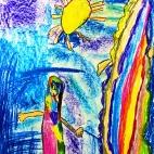 """24.12.2018 / """"Добрый монстр"""" в Творческой студии. Автор работы: Ижболдина Рита (5 лет)"""