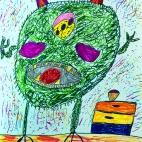"""29.12.2018 / """"Злой монстр"""" в Творческой студии. Автор работы: Борисова Анастасия (7 лет)"""