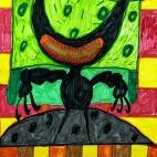 """29.12.2018 / """"Злой монстр"""" в Творческой студии. Автор работы: Кляшторный Андрей (8 лет)"""