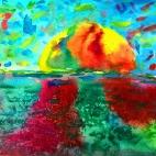 """15.01.2019 / """"Акварельное море"""" в Творческой студии. Автор работы: Васильева Анна (5 лет)"""