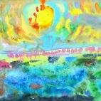 """15.01.2019 / """"Акварельное море"""" в Творческой студии. Автор работы: Мулгачёва Инна (8 лет)"""