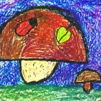 """04.02.2019 / """"Грибы"""" в Творческой студии. Автор работы: Аксёнова Амелина (5 лет)"""
