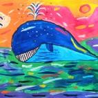 """13.02.2019 / """"Кит"""" в Творческой студии. Автор работы: Ижболдина Мария (8 лет)"""