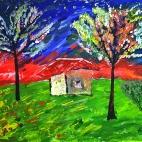 """11.06.2017 / Мастер-класс """"Цветущие деревья"""" в Библиотеке им. Лихачева"""