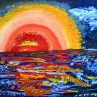 "25.06.2017 / Мастер-класс ""Закат на море"" в Библиотеке им. Лихачева"